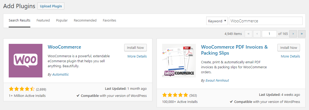 Search WooCommerce