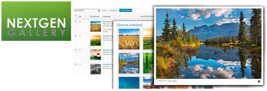 NextGen Gallery free WordPress image gallery plugin