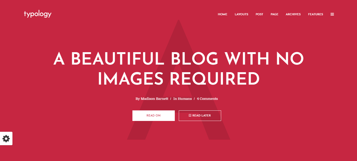 Typology - WordPress minimalist theme