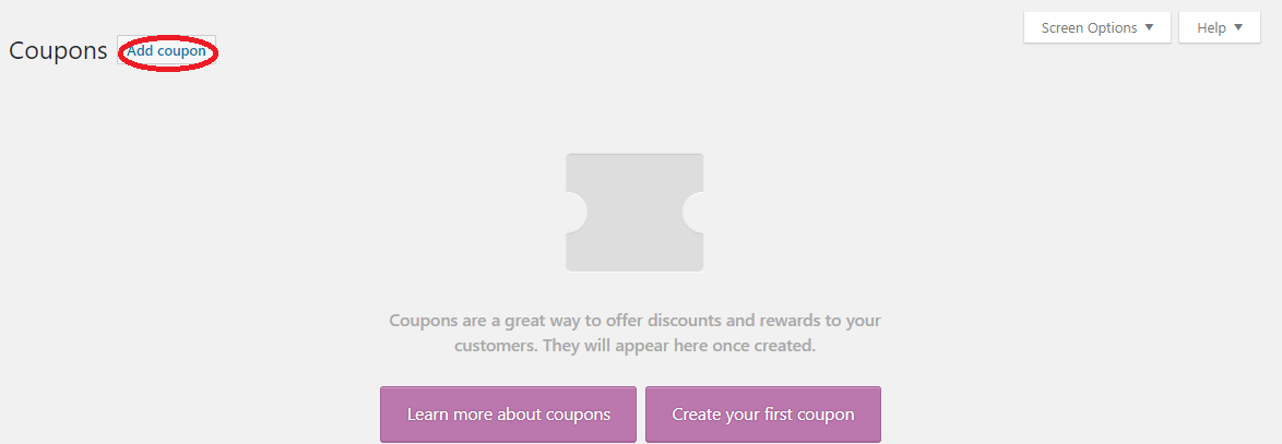 creating coupon