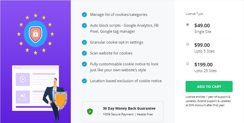 GDPR Cookie Consent Premium