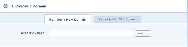 Hostgator - Choose a Domain
