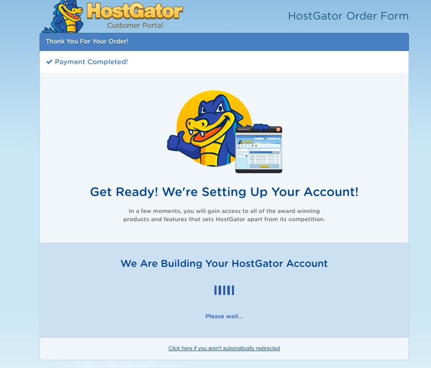 Hostgator- Processing Your Order