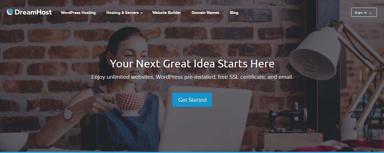 DreamHost web hosting provider