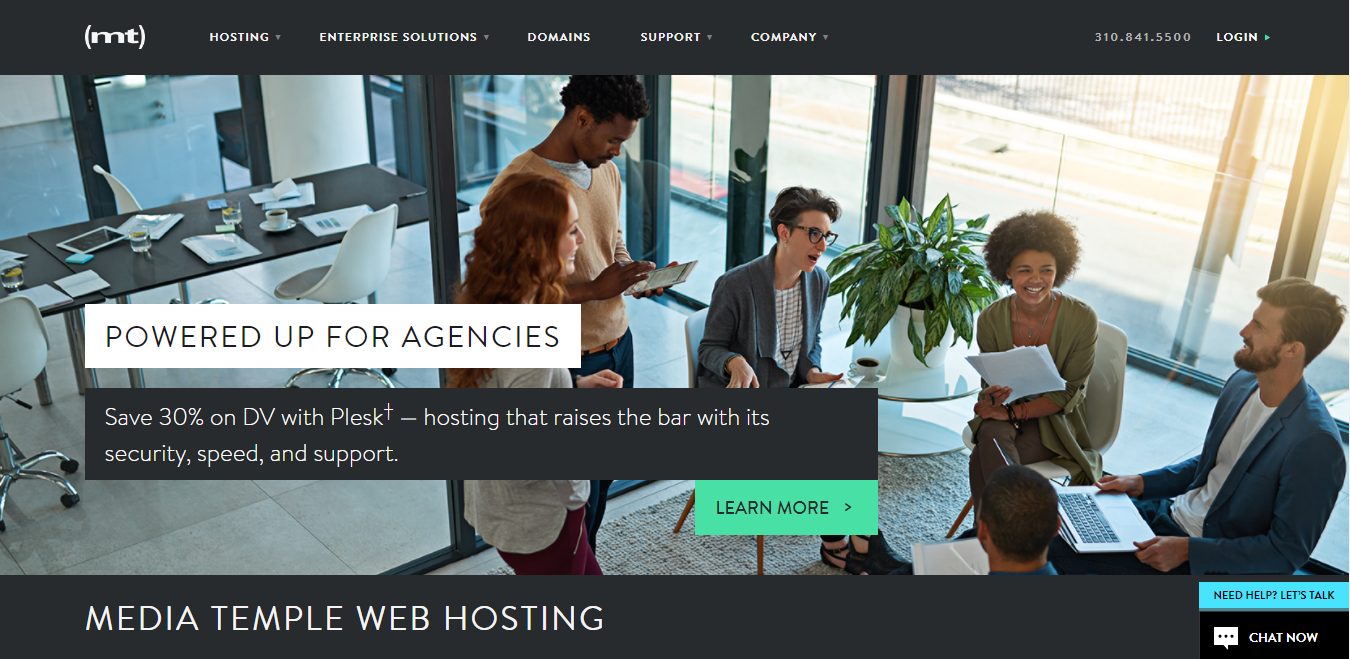 Media Temple web hosting provider