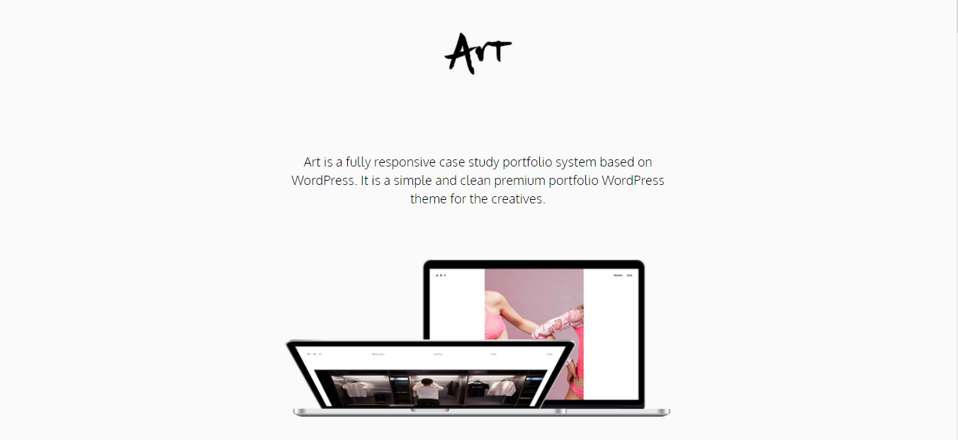 Art - WordPress minimalist theme