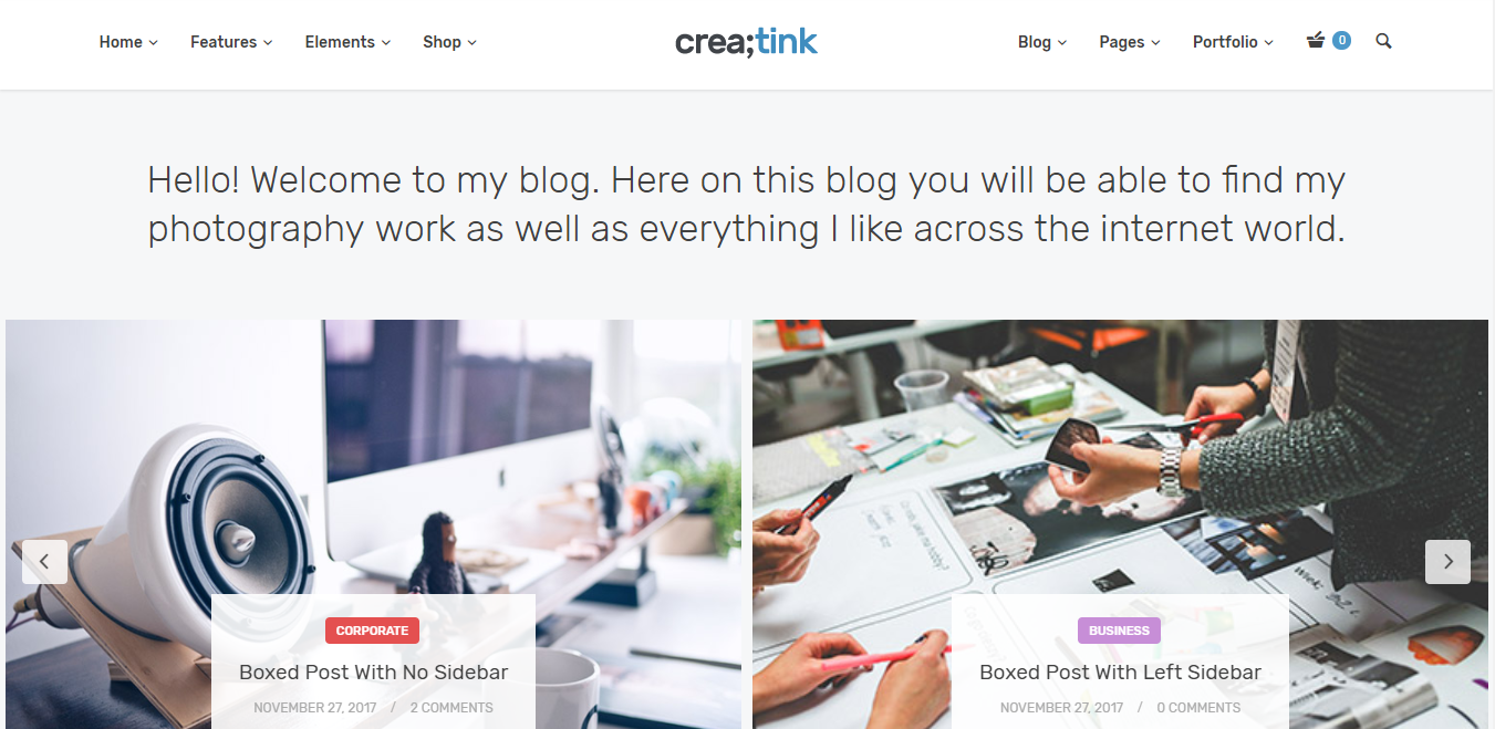 Creatink - WordPress minimalist theme