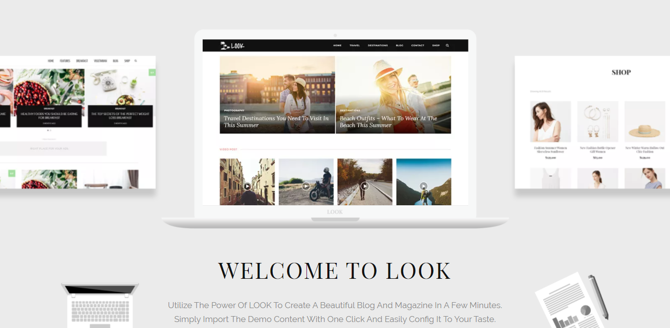 Look WordPress fashion theme