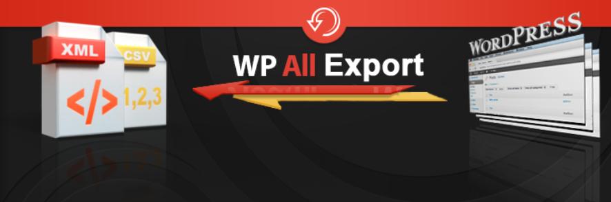 WP All Export plugin