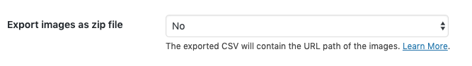 export images as CSV