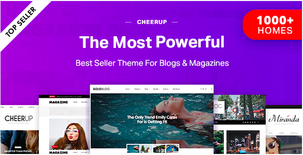 CheerUp magazine theme