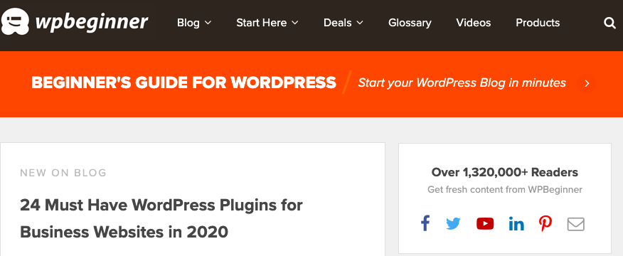 WordPress blog