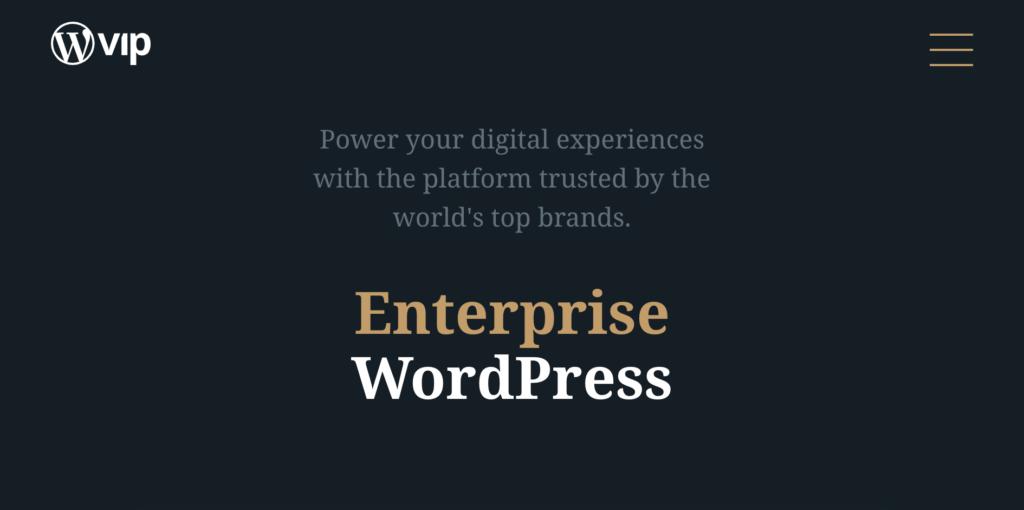 WordPress VIP hosting