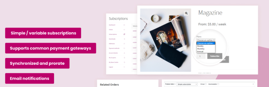 WooCommerce plugin for selling subscription products in your WooCommerce store