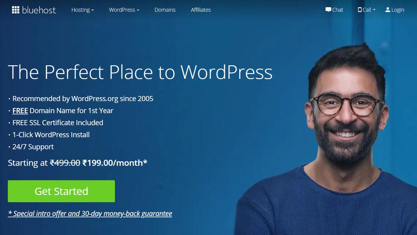 Bluehost.com - a web hosting service provider