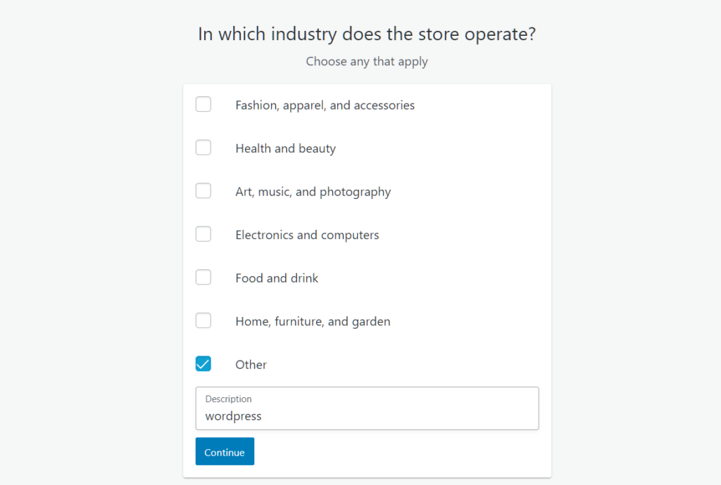 Select your Industry